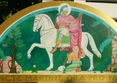Szent Márton megosztja köpönyegét a koldussal